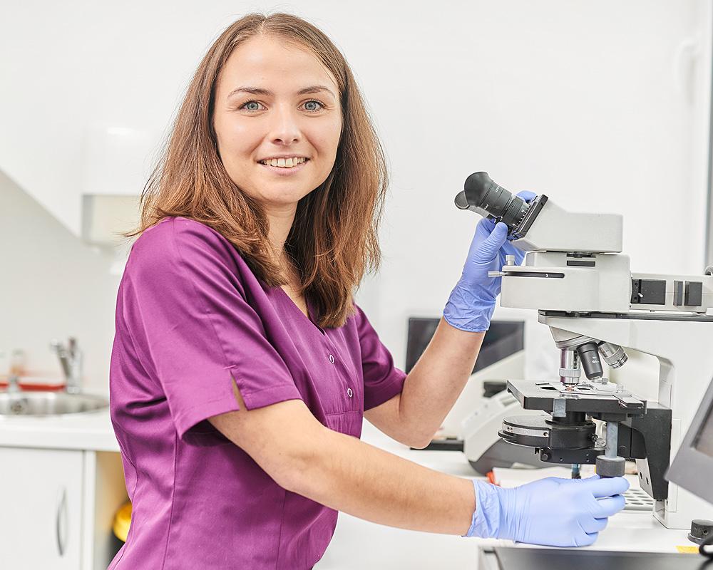 Auswertung am Mikroskop – Urologie Emmendingen